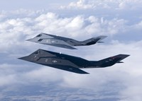 Two F-117 Nighthawk Stealth Fighters