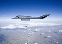 F-117 Nighthawk Releases a GBU-31 JDAM by HIGH-G Productions - various sizes, FulcrumGallery.com brand