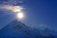 Full moon with Rainbow Clouds over Ogilvie Mountains, Canada by Joseph Bradley - various sizes, FulcrumGallery.com brand