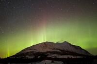 Aurora Borealis and Milky Way over Carcross Desert Fine Art Print