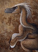 Velociraptor, a Dromaeosaurid dinosaur of the Cretaceous Period by H. Kyoht Luterman - various sizes