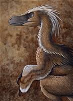 Velociraptor, a Dromaeosaurid dinosaur of the Cretaceous Period Fine Art Print
