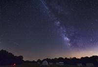 Milky Way and Perseid Meteor Shower, Oklahoma Fine Art Print