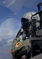 F-15 Pilot Looks Over at his Wingman by HIGH-G Productions - various sizes, FulcrumGallery.com brand