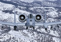 An A-10C Thunderbolt over Idaho with Snow Fine Art Print