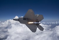 An F-22 Raptor Releases a Flare by HIGH-G Productions - various sizes