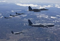Five F-15 Eagles Refueling by HIGH-G Productions - various sizes, FulcrumGallery.com brand