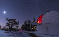 Moonlight Illuminates the Schulman Telescope on Mount Lemmon by John Davis - various sizes