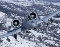 A-10C Thunderbolt  Flies over Snowy Idaho Fine Art Print