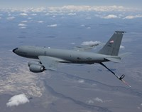 KC-135R Stratotanker over Central Oregon Fine Art Print