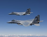 Two F-15 Eagles over Oregon by HIGH-G Productions - various sizes
