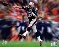 Tom Brady Motion Blast Framed Print