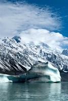 Large icebergs on Tasman Glacier Terminal Lake, South Island, New Zealand Fine Art Print