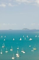 Australia, Queensland, Whitsunday, Airlie, Sailboats by Walter Bibikow - various sizes