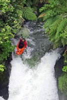 Kayak in Tutea's Falls, Okere River, New Zealand by David Wall - various sizes