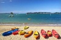 Kayaks, Paihia, Northland, New Zealand by David Wall - various sizes
