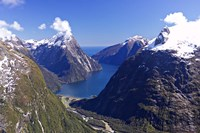 Cleddau Valley, Mitre Peak and Milford Sound, South Island, New Zealand by David Wall - various sizes