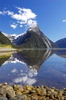 Mitre Peak, Milford Sound, Fjordland National Park, South Island, New Zealand Fine Art Print