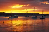 Sunset, Russell, Bay of Islands, Northland, New Zealand Fine Art Print