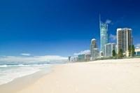 Australia, Gold Coast, Surfer's Paradise Beach Fine Art Print