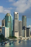 Central business district viewed from Kangaroo Point, Brisbane, Queensland by Walter Bibikow - various sizes - $32.99