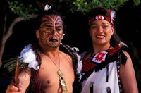 New Zealand, North Island, Maori culture and costume by Bill Bachmann - various sizes