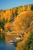 Boats and Autumn Colours, Lake Dunstan, Central Otago, New Zealand by David Wall - various sizes