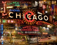 Chicago Night by Giesla Hoelscher - various sizes