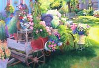 Flower Cart in Door County Fine Art Print