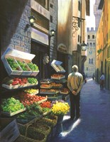 A Stroll in Florence Fine Art Print