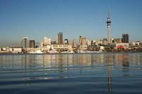 Auckland CBD skyline, North Island, New Zealand Fine Art Print