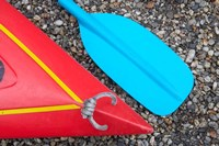 Detail of Red Kayak and Blue Paddle by David Wall - various sizes