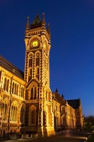 Historic Registry Building, University of Otago, South Island, New Zealand (vertical) Fine Art Print
