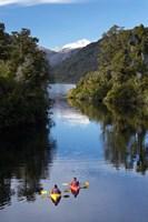 Kayaks, Moeraki River by Lake Moeraki, West Coast, South Island, New Zealand by David Wall - various sizes