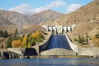 Lake Aviemore, Benmore Dam, South Island, New Zealand by David Wall - various sizes, FulcrumGallery.com brand