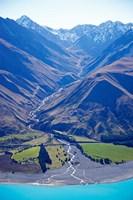 Lake Pukaki and Whale Stream, Ben Ohau Range, South Island, New Zealand by David Wall - various sizes