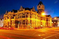Law Courts at night, Dunedin, South Island, New Zealand by David Wall - various sizes, FulcrumGallery.com brand