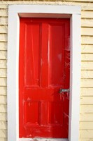 Red Door, Sutton Railway Station, Otago, South Island, New Zealand Fine Art Print
