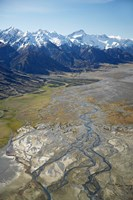 Tasman River and Ben Ohau Range, near Mt Cook, South Canterbury, South Island, New Zealand by David Wall - various sizes