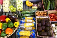 Vegetable Stall, Cromwell, Central Otago, South Island, New Zealand by David Wall - various sizes - $40.99