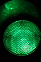 Green Traffic Light, New Zealand Fine Art Print