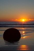Sunset, Moeraki Boulder, Otago, South Island, New Zealand by David Wall - various sizes