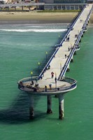 New Brighton Pier, Christchurch, South Island, New Zealand Fine Art Print
