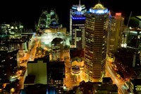 Auckland CBD Viewed from Skytower, Auckland, North Island, New Zealand by David Wall - various sizes