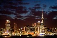 Auckland CBD, Skytower and Waitemata Harbor, North Island, New Zealand by David Wall - various sizes