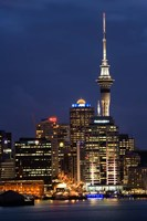 City skyline at night, Auckland CBD, North Island, New Zealand by David Wall - various sizes