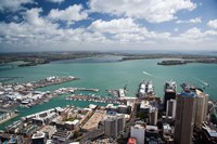 View of Waitemata Harbor from Skytower, Auckland, North Island, New Zealand by David Wall - various sizes