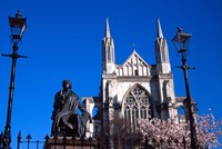 St Pauls Cathedral and Robert Burns Statue, Octagon, Dunedin, New Zealand by David Wall - various sizes