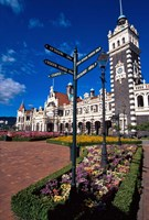 Historic Railway Station building, Dunedin, New Zealand Fine Art Print