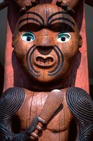 Maori Carving on Arataki Visitors Centre, Waitakere Ranges, Auckland by David Wall - various sizes